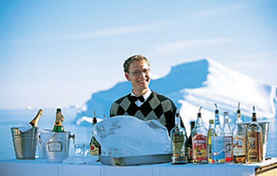 Dem Barkeeper geht das Eis so schnell nicht aus