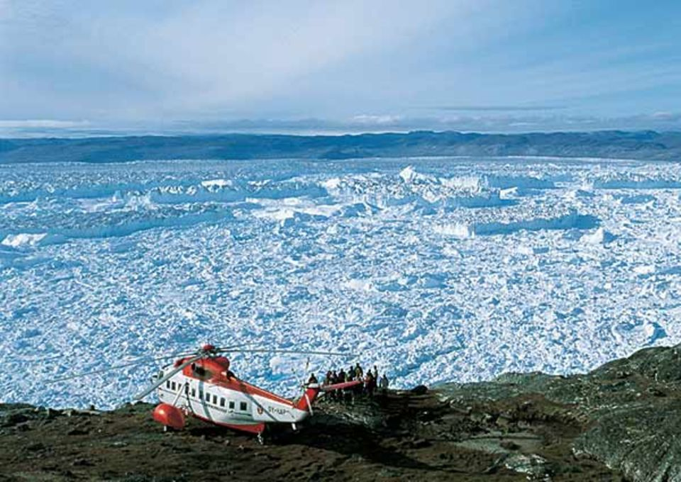 In Ehrfurcht erstarrt: Von oben macht Grönland einen abweisenden Eindruck