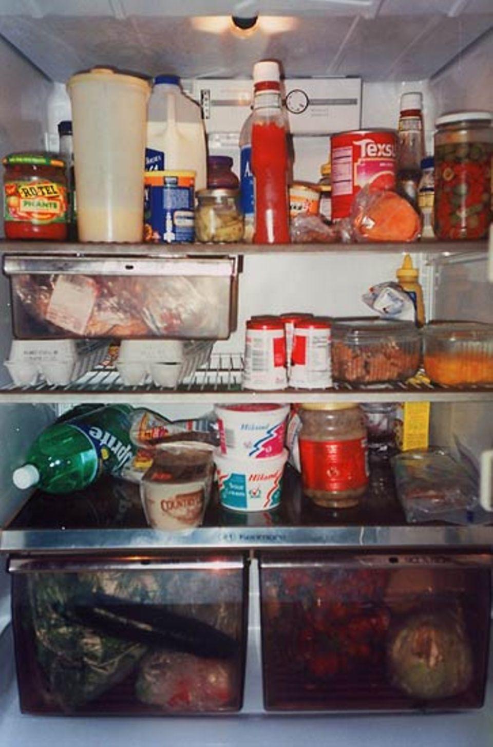 """""""Das Innenleben meines Kühlschranks. Ich war hungrig. Essen ist ein großer Teil meines Lebens."""""""