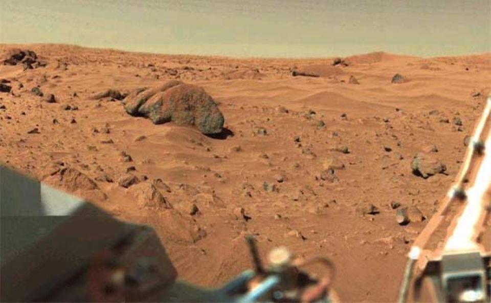 Die Marsoberfläche, gesehen von der Viking-Sonde der NASA