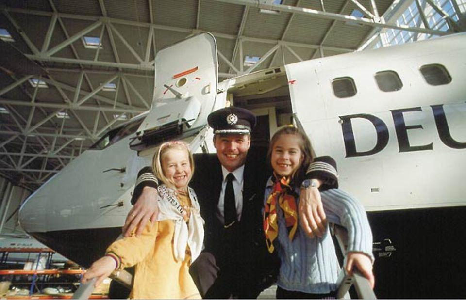 Beruf: Oliver Trapski fliegt gern mit Kindern an Bord