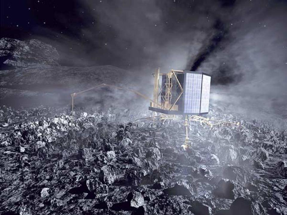 Rosetta: Der Lander erforscht den Kometen
