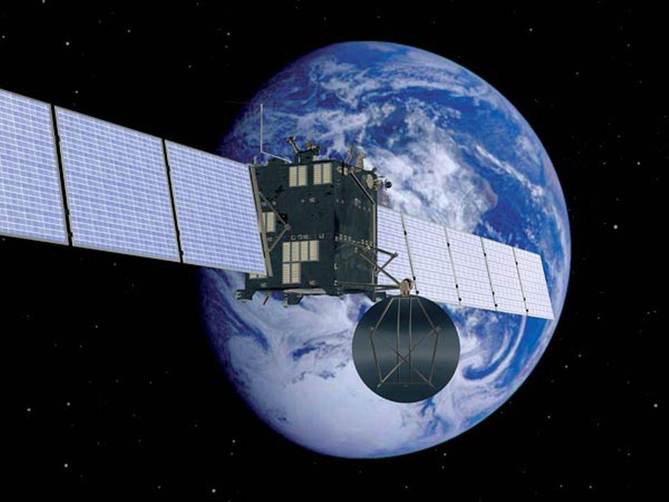 Rosetta: Rosetta umkreist die Erde