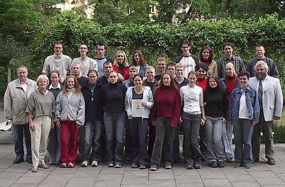 Schüler des Ökologie-Kurses der Berufsbildenden Schule Quedlinburg