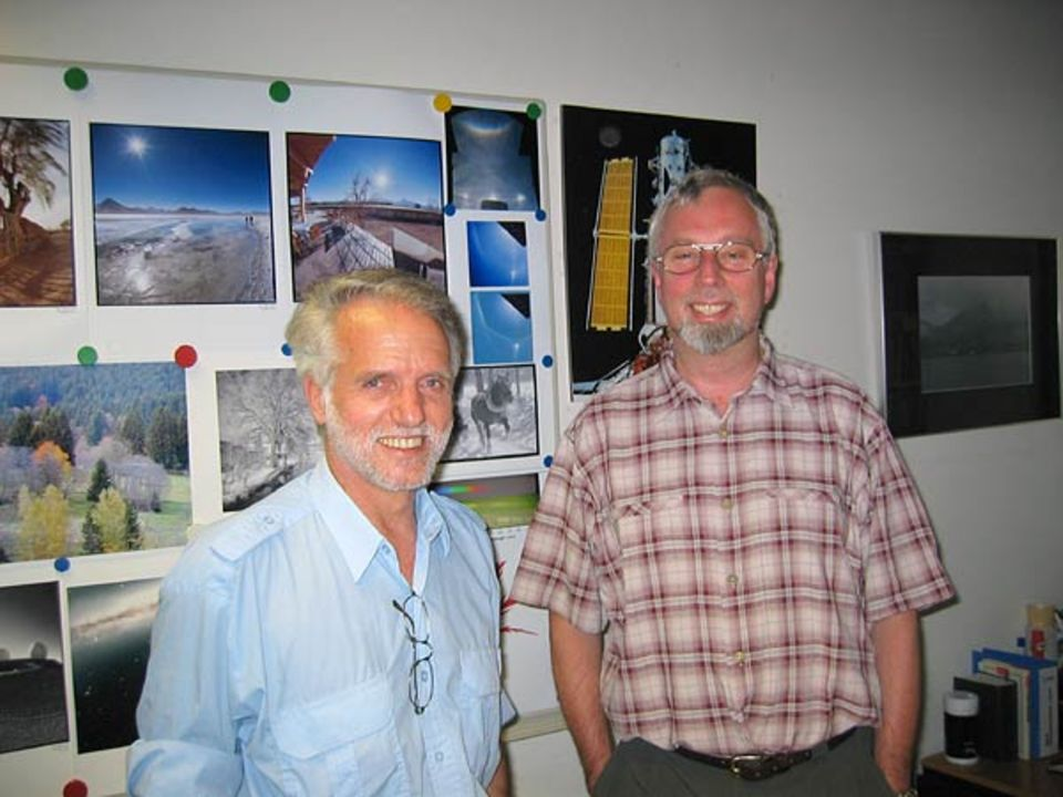 Die Hubble-Experten der ESA: Rudolf Albrecht und Robert Fosbury