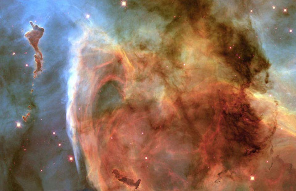 Ein Bild von Hubble: der Carina-Nebel (NGC 3372) in 8000 Lichjahren Entfernung