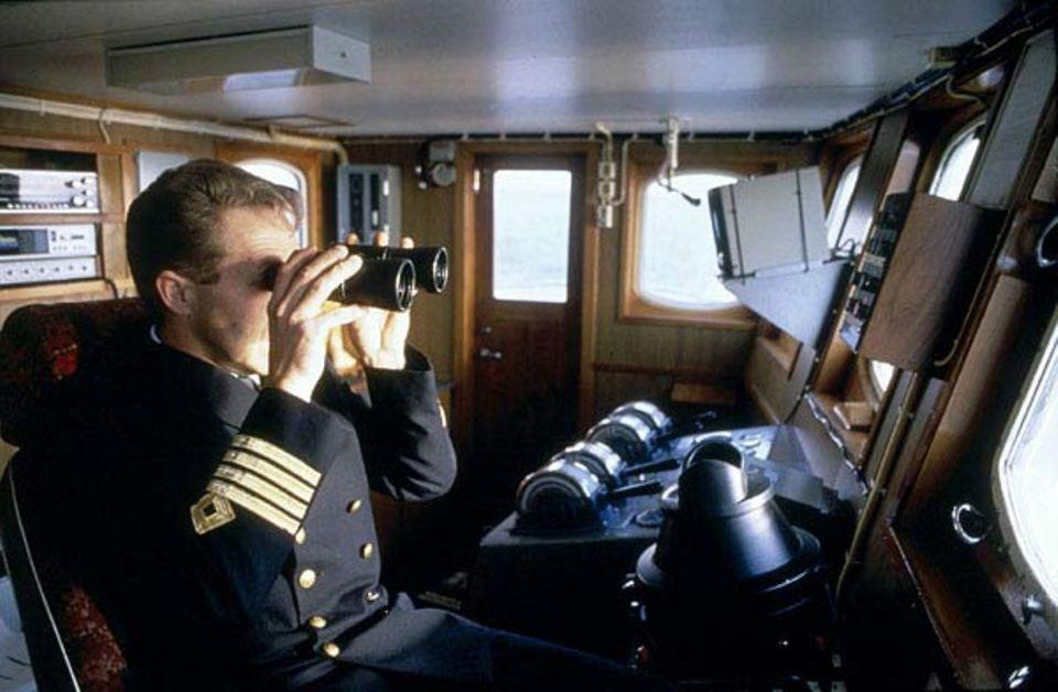Beruf: Vier goldene Streifen an der Uniform - Erkennungszeichen des Kapitäns