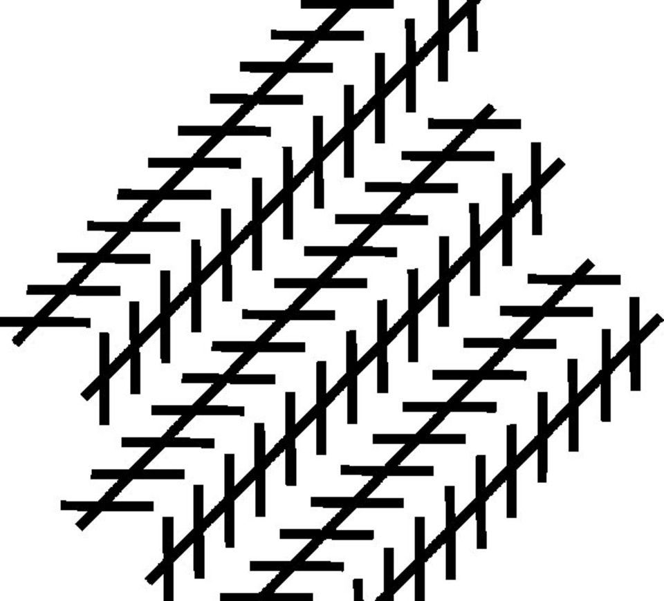 Optische Täuschungen: Und auch hier: parallele Linien