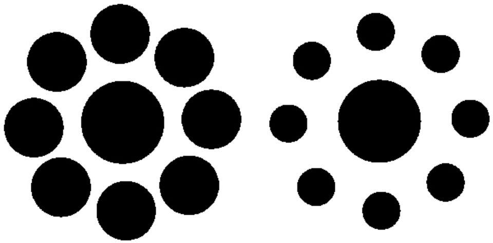 Optische Täuschungen: Ist einer der beiden inneren Kreise größer? Urteilt nicht zu voreilig