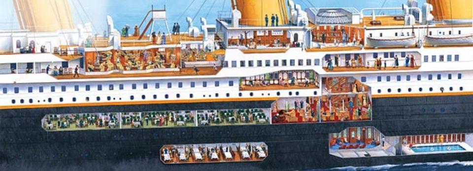 Geschichte: So hoch wie ein zehnstöckiges Haus und mit allem Luxus ihrer Zeit ausgestattet - das war die Titanic