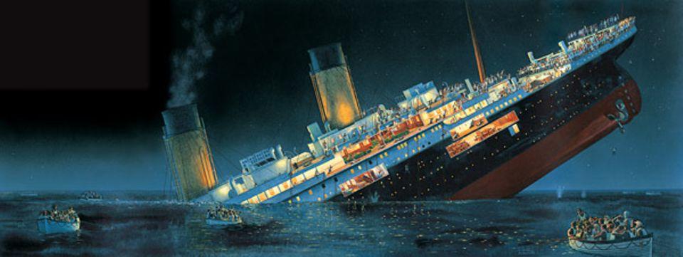 Geschichte: Mit dem sinkenden Ozean-Riesen wurden über 1500 Passagiere und Seeleute vom eiskalten Meer verschlungen - es gab viel zu wenig Rettungsboote