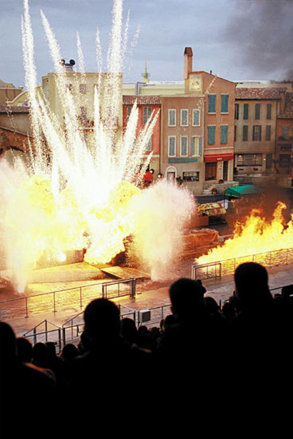 Die Stunt Show findet mehrmals täglich statt