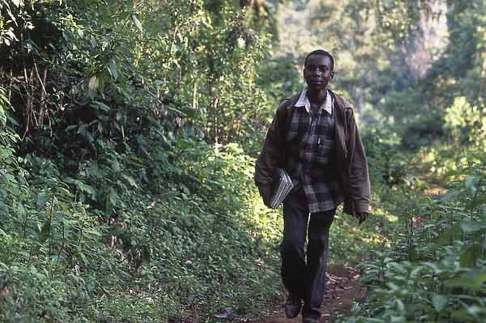 Zwei Stunden lang läuft Mekonen Gebremariam jeden Morgen zur Schule. Manchmal sieht er unterwegs Affen und Antilopen