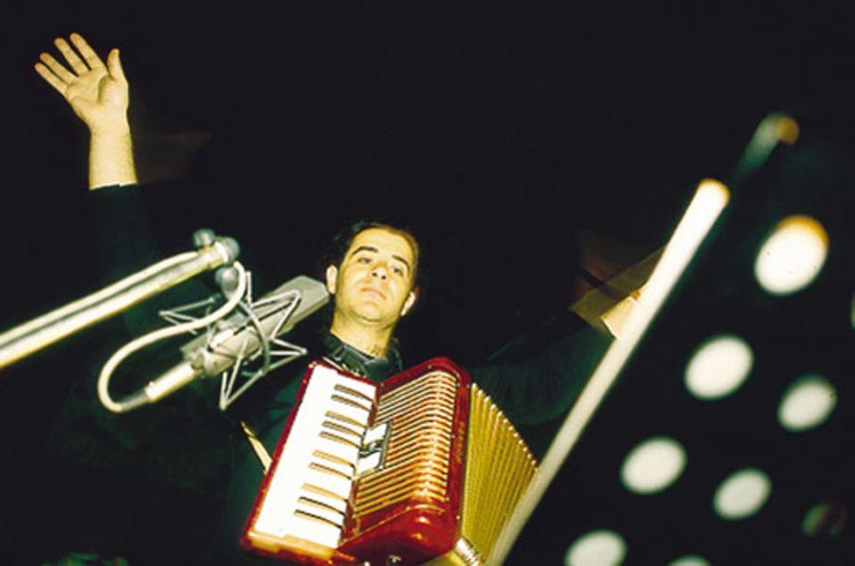 Mensch: Alessandro Palmitessa gibt im Studio den Einsatz
