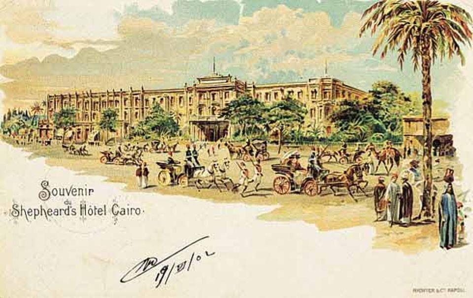 "Das legendäre Hotel ""Shepeard´s"" in Kairo, eröffnet 1841"