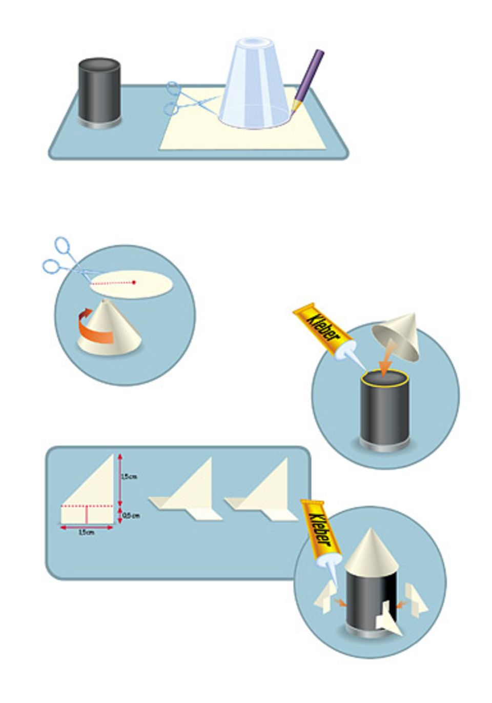 Basteln: Experimente mit Backpulver