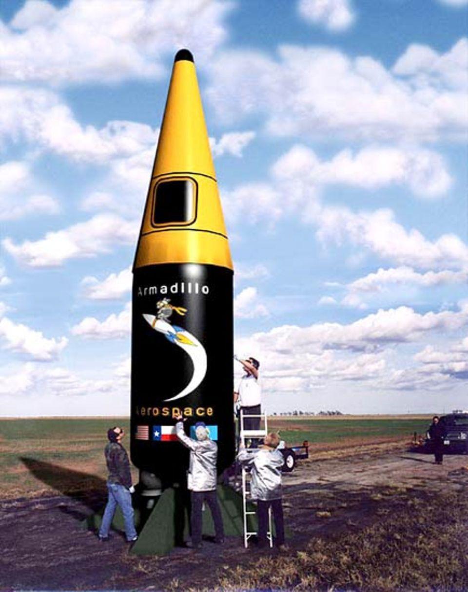 Eine bemannte Landefähre mit wiederverwendbarem Antrieb - und bis zu 2000 Sekunden Betriebszeit