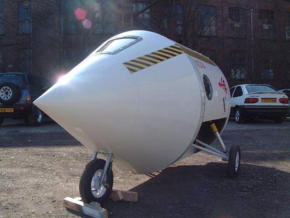 """Die Raumkapsel der """"Starchaser Industries""""-Rakete: Nova Mark II"""