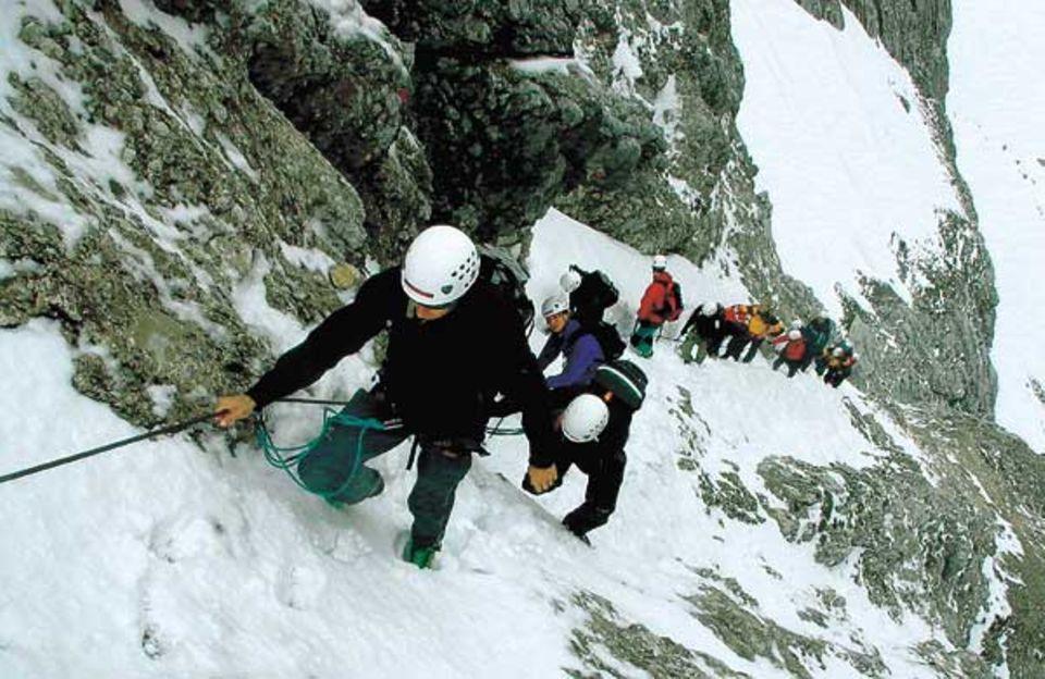 Auf dem Anstieg zum 2144 Meter hohen Bernadeinkopf im Wettersteingebirge