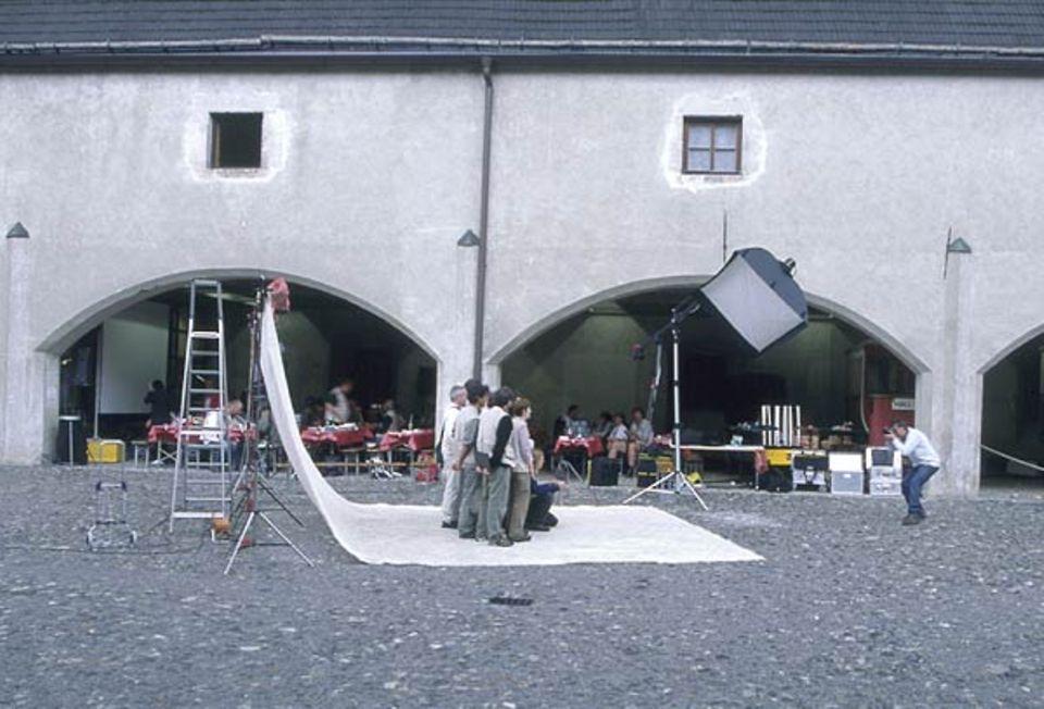 Fototermin im Hof des Zeughauses