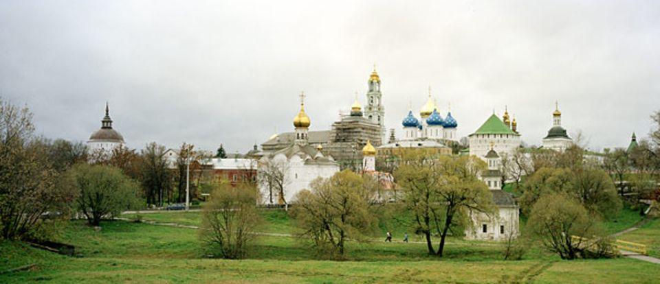 Panorama des Sergij-Dreifaltigkeits-Klosters in Sergijew Possad