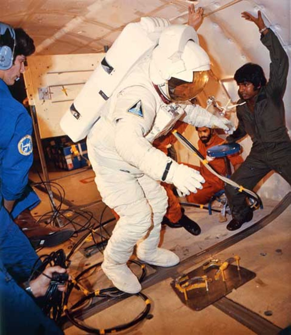 Beruf: In der Ausbildung lernen Astronauten, wie man sich im All fühlt.