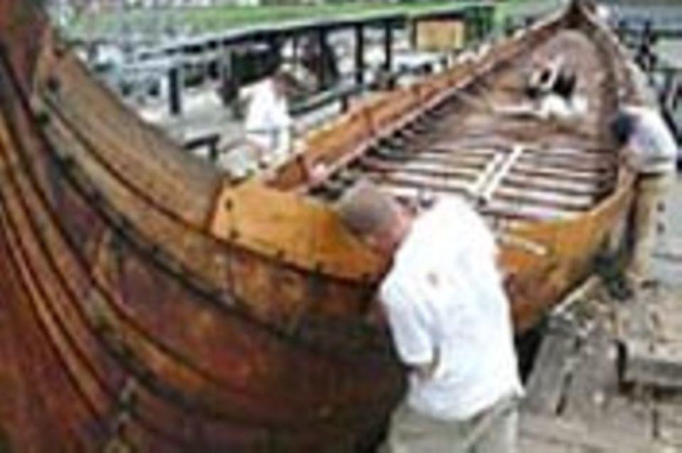 Wiedergeburt eines Wikingerschiffs