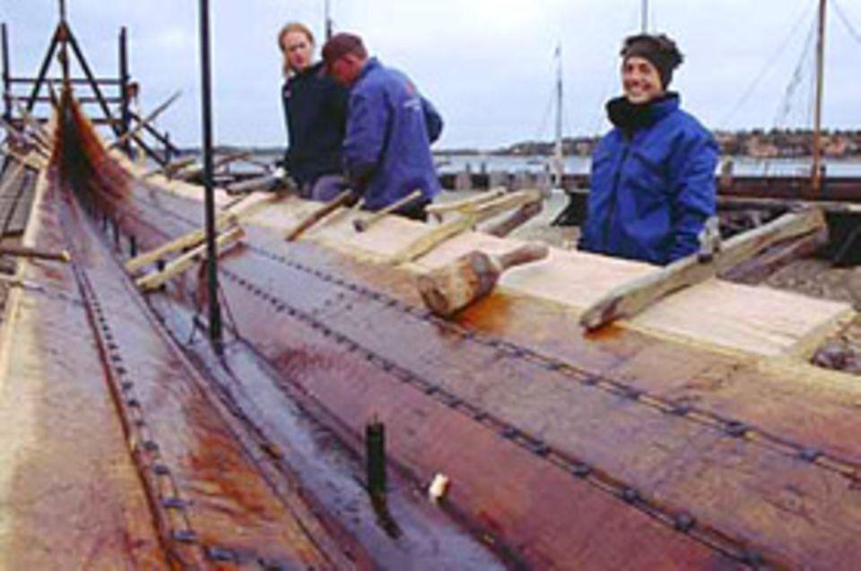 Planke für Planke wuchs das prachtvolle Wikingerschiff.