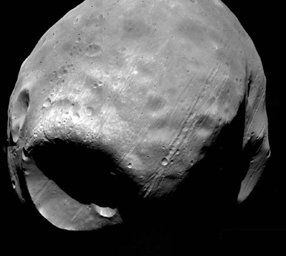 Der Mars-Begleiter Phobos misst 26,2 Kilometer im Durchmesser