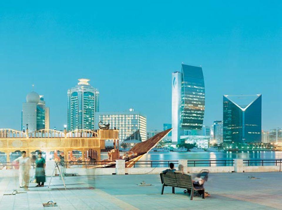Geometriestunde: In Dubai City können die Architekten ihrer Fantasie freien Lauf lassen