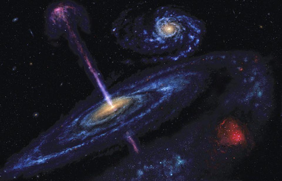 Sternengeburt im Spiralarm