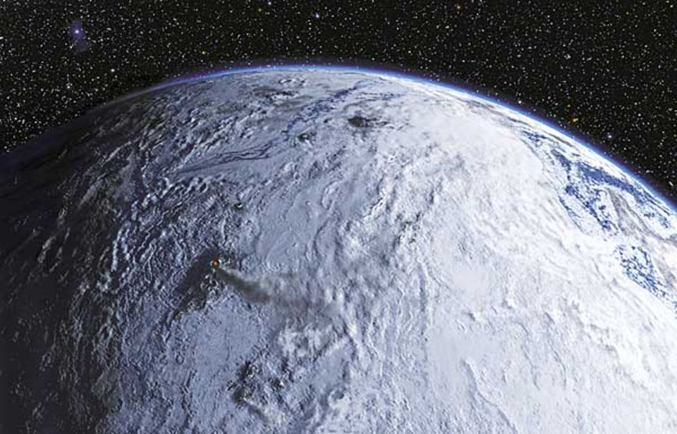 Die Erde als Schneeball