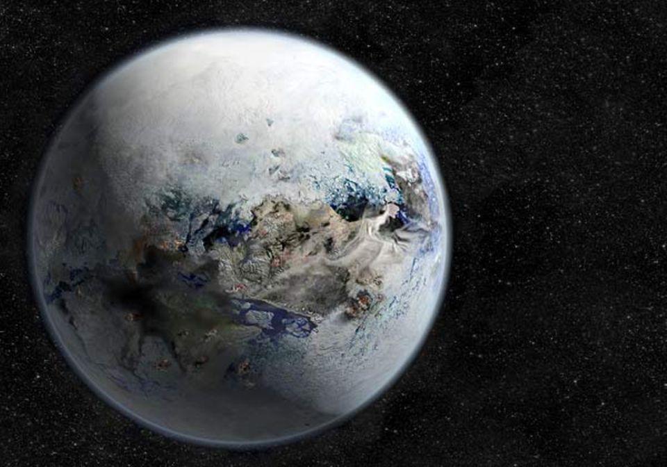 """Klimawandel: So mag unser Blauer Planet zur Zeit der """"Varanger-Vereisung"""" ausgesehen haben"""