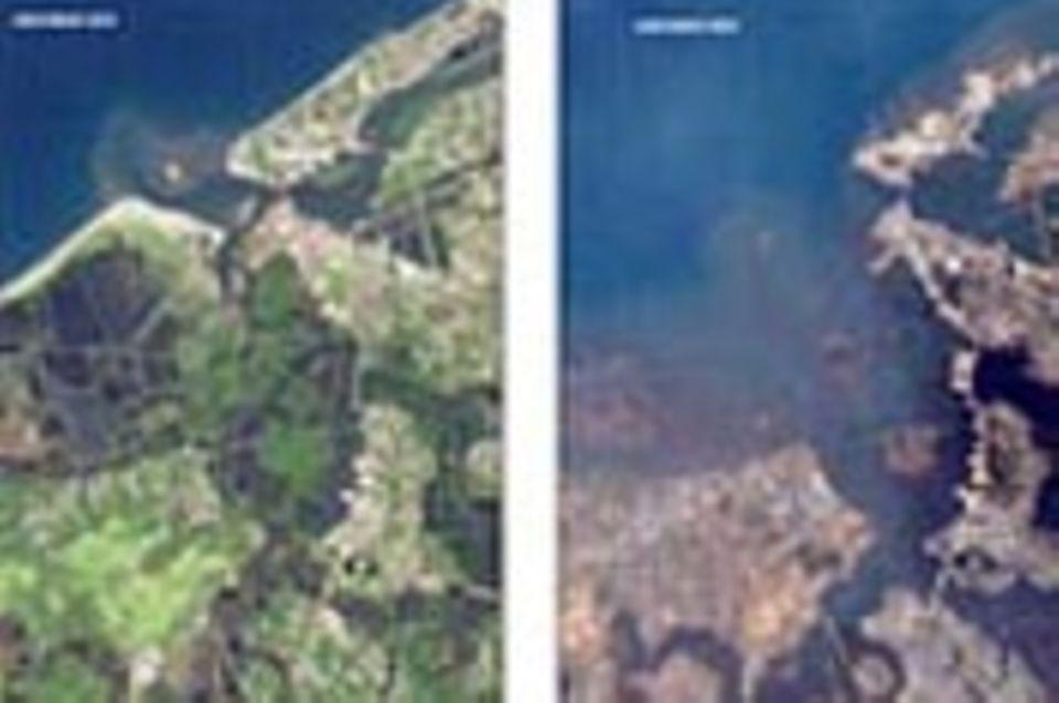 Satellitenbilder: Nach der Katastrophe