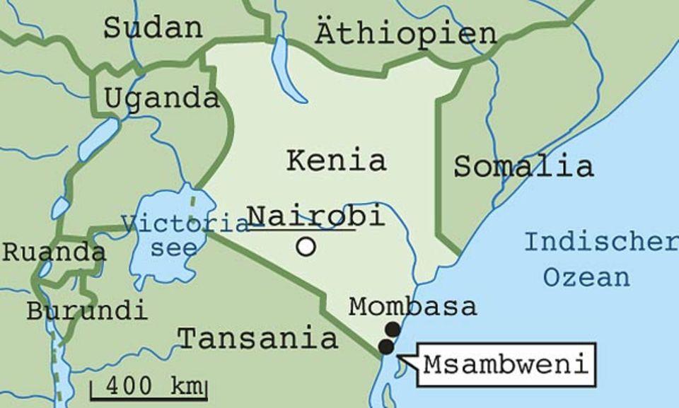 Msambweni liegt im Süden Kenias