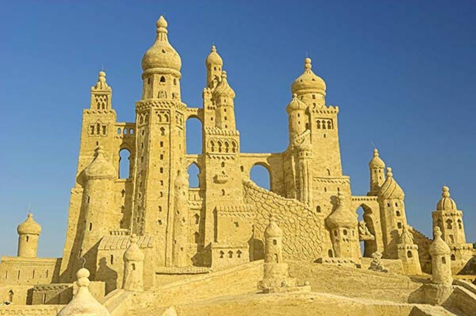 Alladins Schloss - ganz aus Sand!
