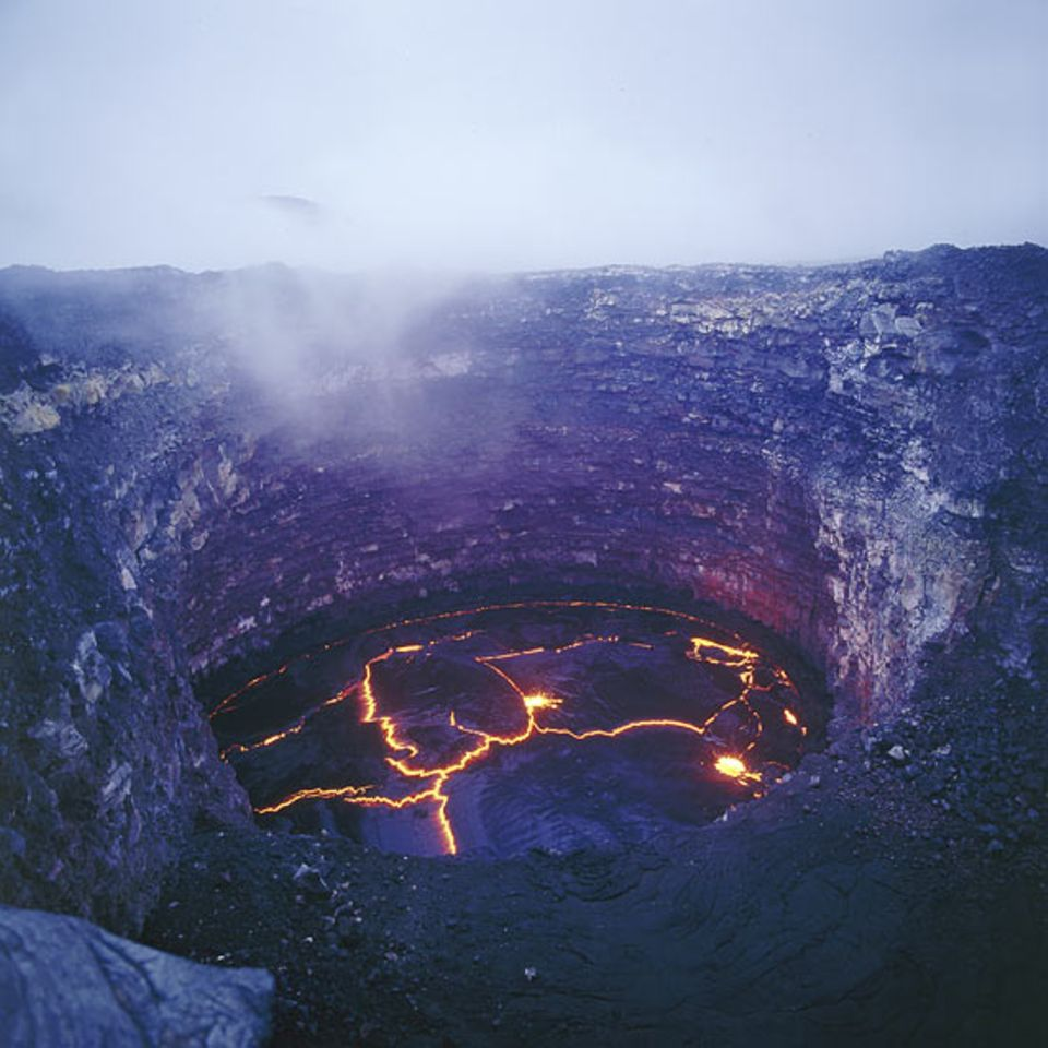 Äthiopien - Lavasee auf dem Vulkan Erta Ale