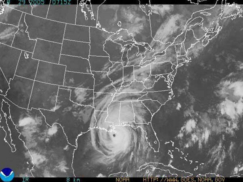 """Die Infrarotaufnahme zeigt die ungeheuren Abmessungen des Wirbelsturms. Der ganze Osten der USA liegt im Einflussbereich von """"Katrina"""""""