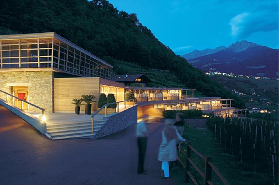 Pergola Residence: Matteo Thun hat die zwölf Apartments so in die Meraner Landschaft gebaut, dass die sogar den Einheimischen gefallen