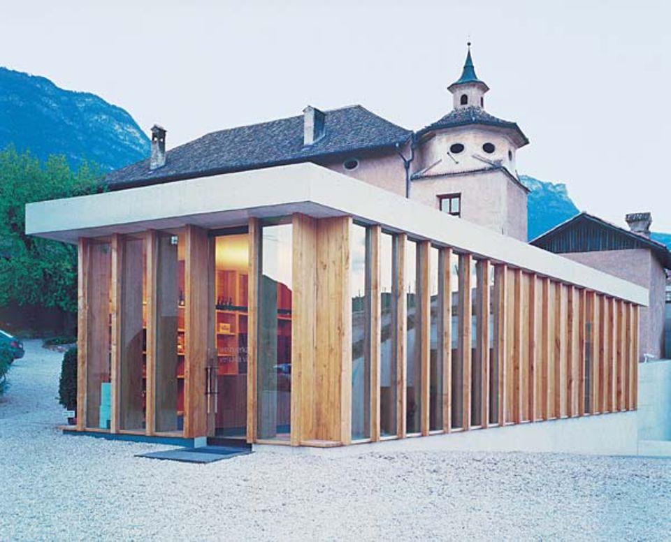 Manincor in Kaltern: die vielen Architekten, die jetzt die Kellerei anschauen, bescheren dem Winzer gute Geschäfte