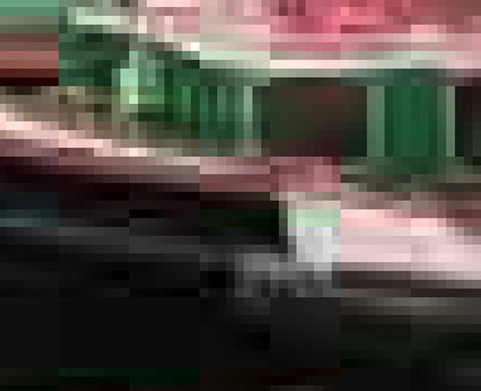 Hier könnt ihr die verschiedenen Bildpunkte ganz genau erkennen; das Bild wirkt krisselig