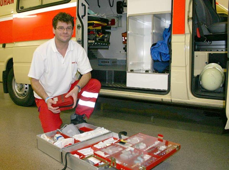 Beruf: Fritz Scheibenzuber hat schon mit 13 ehrenamtlich für die Johanniter gearbeitet