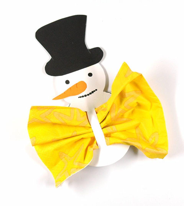 Basteltipp: Ganz einfach zu basteln: der Schneemann-Serviettenring