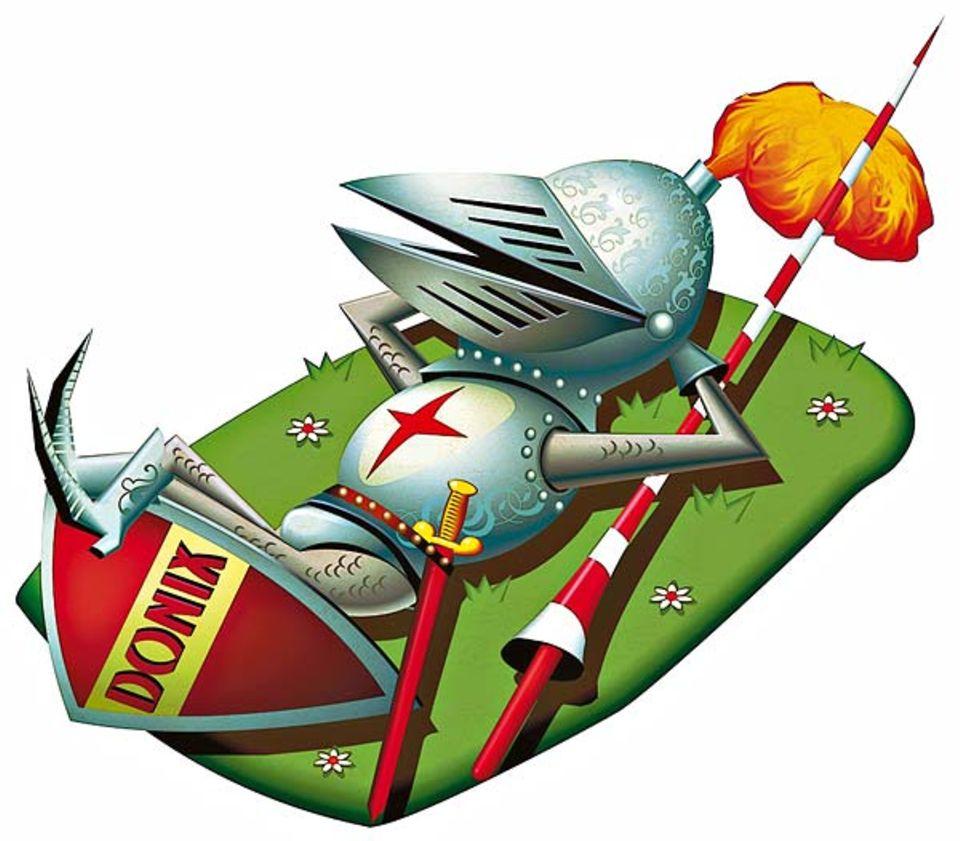 """Fauler Vorfahr: Der Name """"Donix"""" klingt nach einer Figur aus einem Asterix-Comic. Tatsächlich geht er auf """"Tut nichts"""" zurück - also auf jemanden, der ein Faulpelz war"""