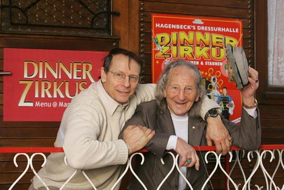 Dreamteam: Konrad und sein Sohn John (links)