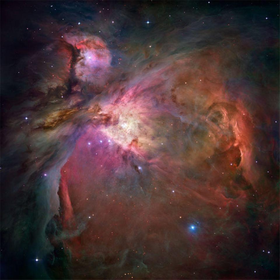 Milchstraße: Der 1500 Lichtjahre entfernte Orion-Nebel ist die der Erde nächste Region, in der sich neue Sterne formen - und eine besonders produktive dazu