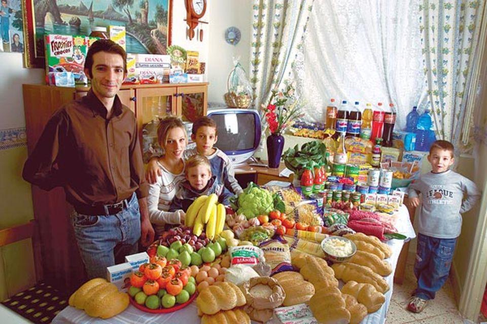 So sieht der Esstisch bei Familie Manzo aus