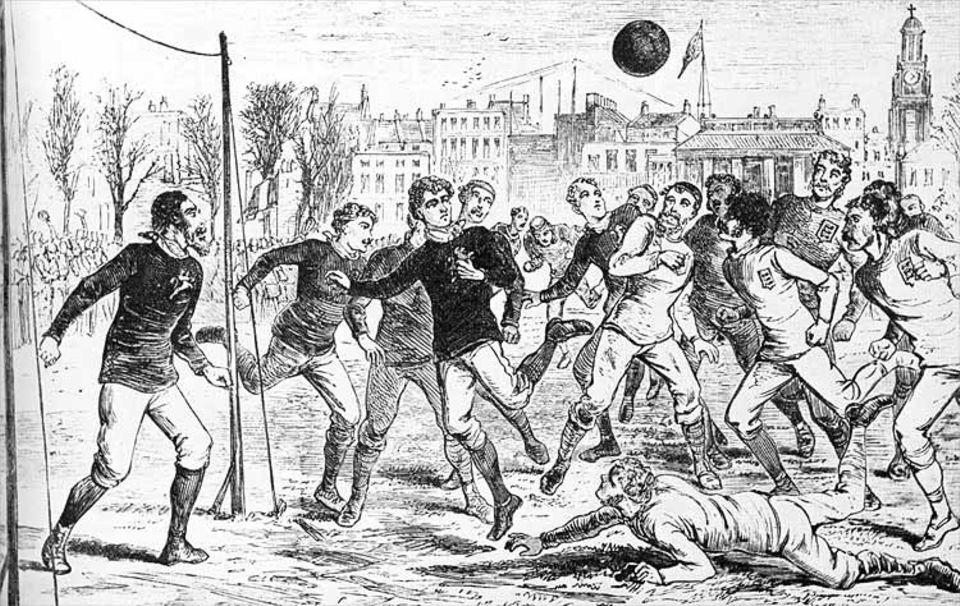 Fußball-WM-Serie in drei Teilen: Am 02.03.1878 spielten die Nationalmannschaften Englands und Schottlands gegeneinander: (7:2). Die beiden Nationalteams hatten sich auch in dem ersten offiziellen Länderspiel der Fußball-Geschichte am 30. November 1872 gegenübergestanden (Ergebnis 0:0)