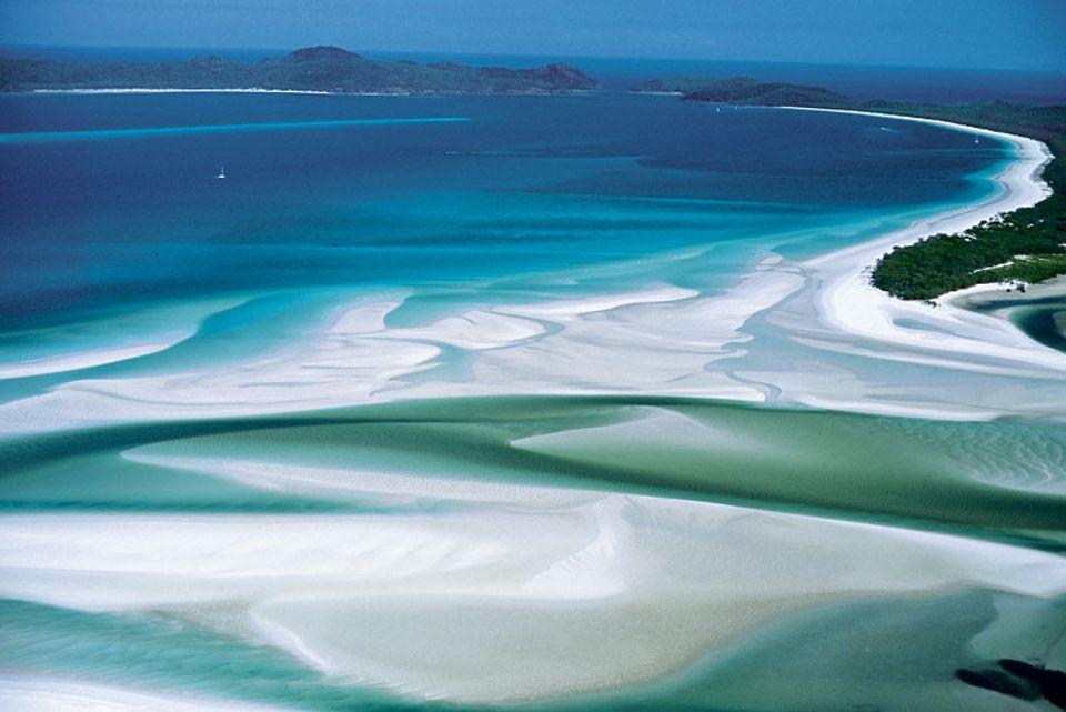 Die Strände der Whitsunday-Inseln zählen zu den schönsten der Welt