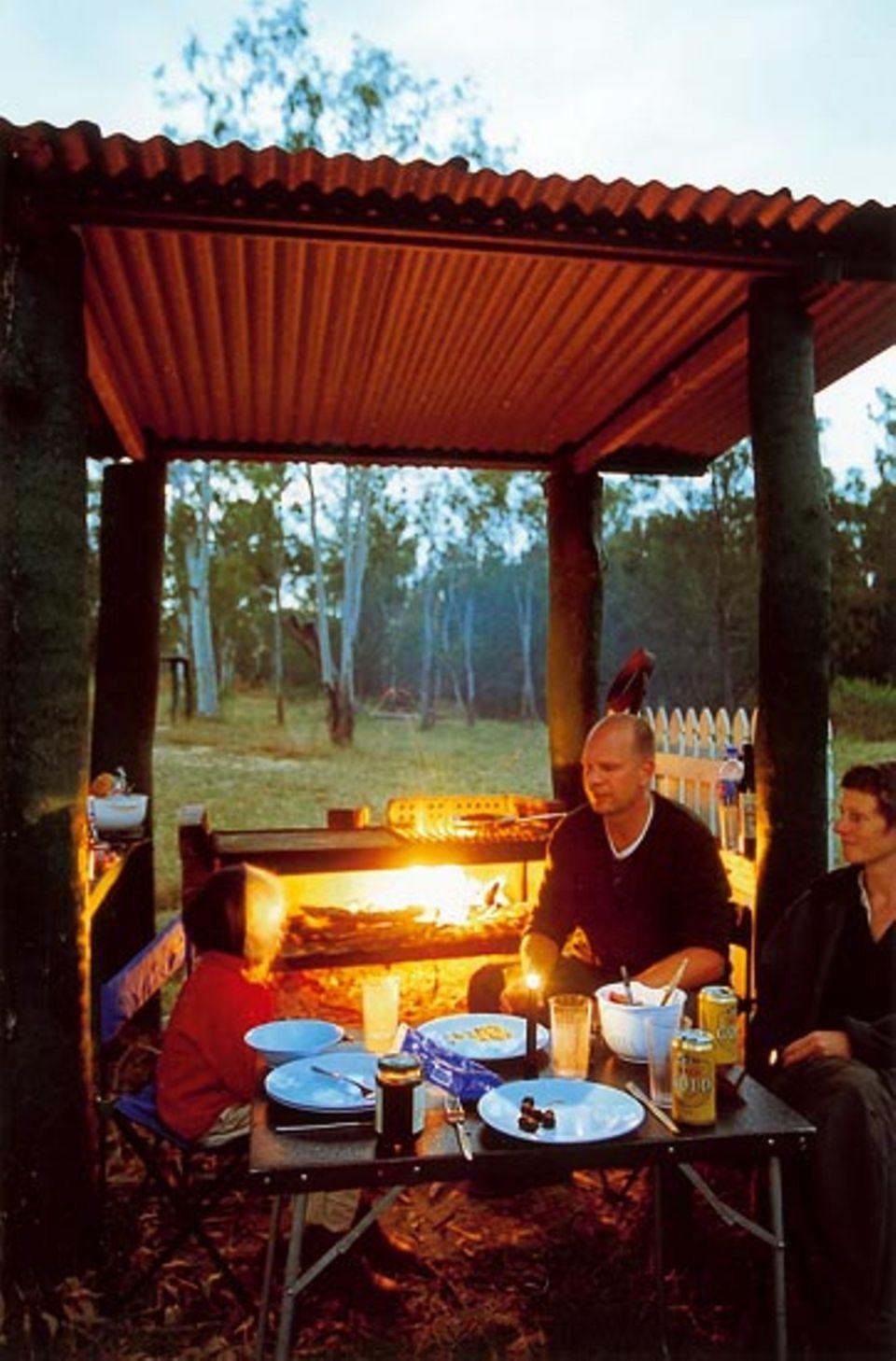 Alles im Busch: Zwischen den Termitenhügeln bei den Innot Hot Springs findet sich genug Feuerholz, um abends zu grillen